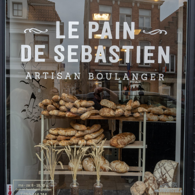 """Le Pain de Sebastian bakery window"" stock image"