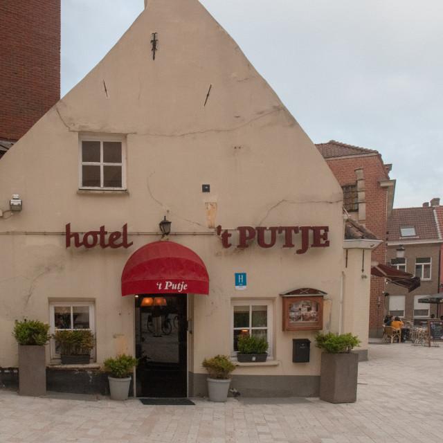 """Hotel 't Putje, Brugge"" stock image"