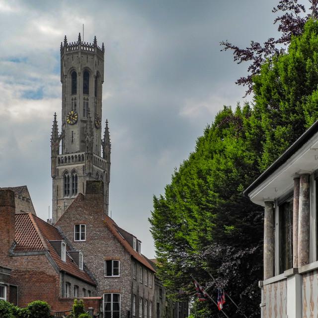 """""""Belfort van Brugge (Belfry of Bruges)"""" stock image"""