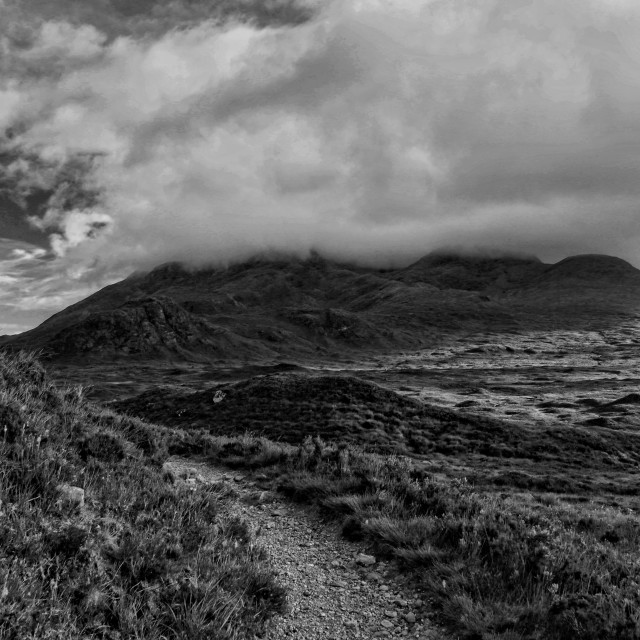 """""""The Black Cuillins"""" stock image"""