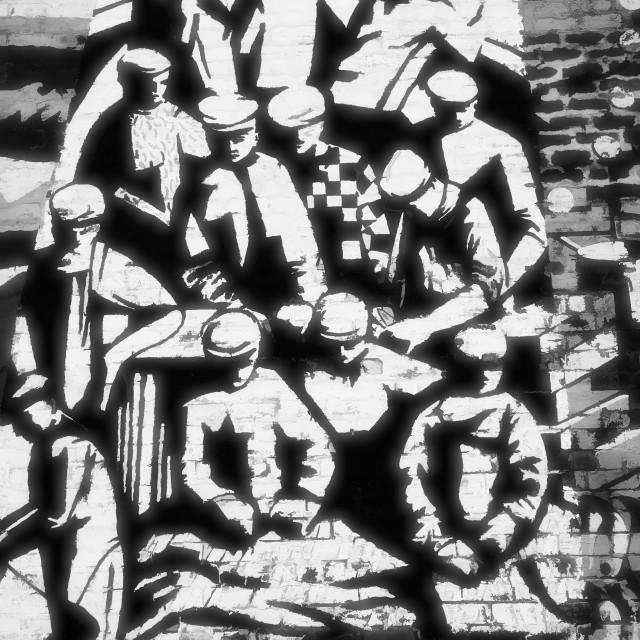 """The Mallaig Murals"" stock image"