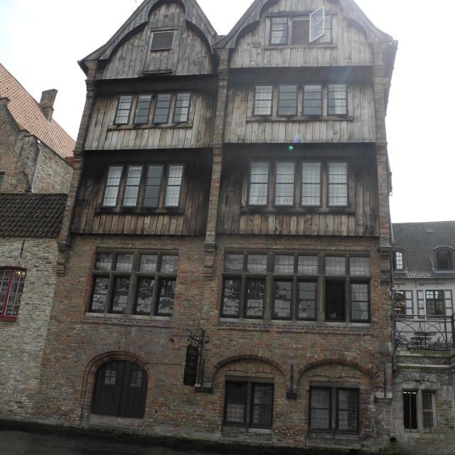 """""""Old wooden house, Brugge - Bruges"""" stock image"""