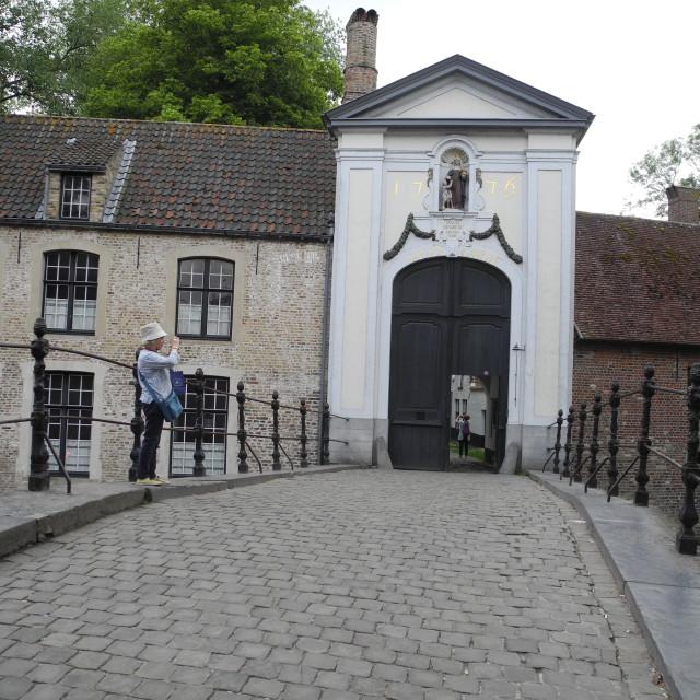 """Begijnhof entrance with"" stock image"
