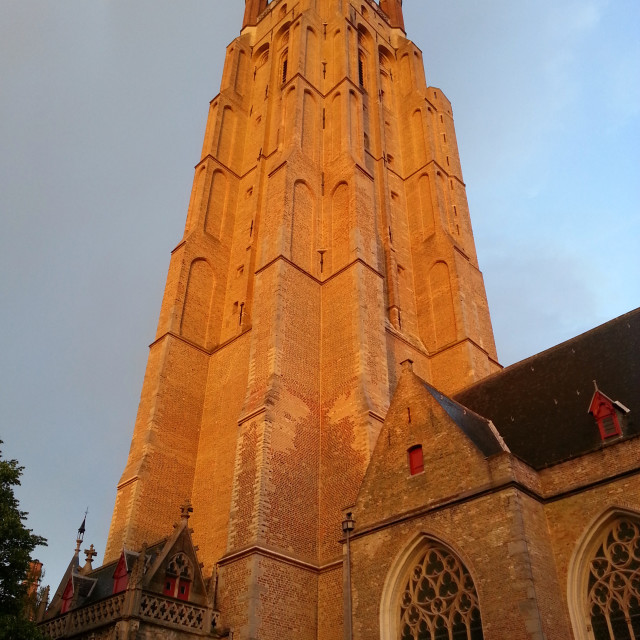 """""""Steeple, Church of Our Lady"""" stock image"""