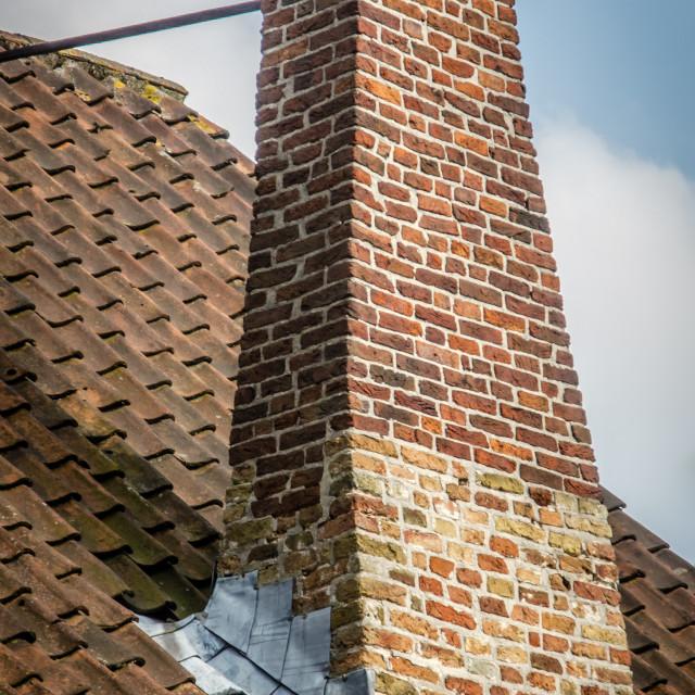 """Begijnhof chimney"" stock image"