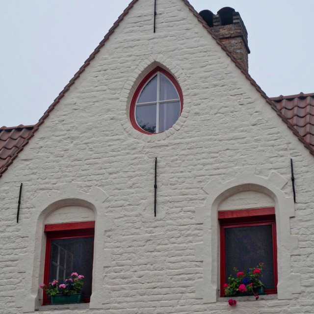 """""""Architectural detail, residential, Brugge"""" stock image"""