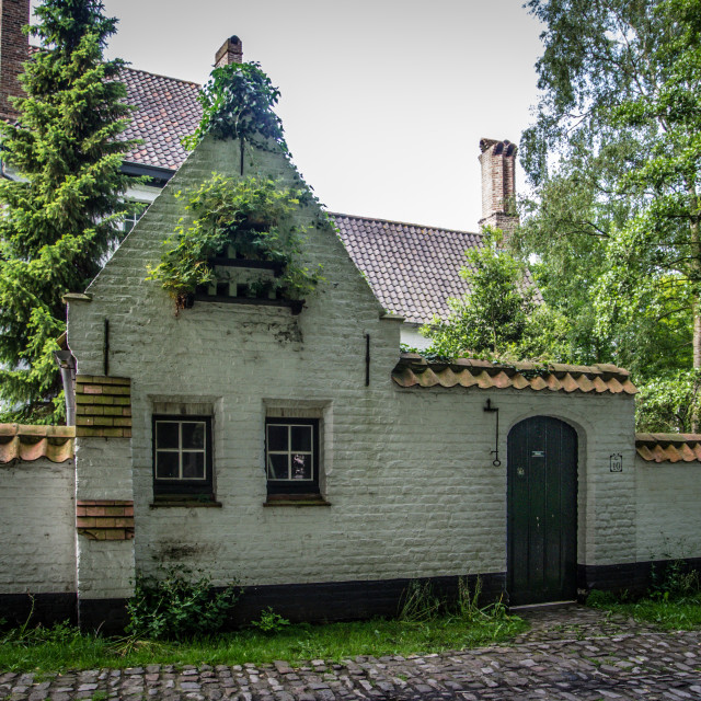 """Begijnhof cottage"" stock image"