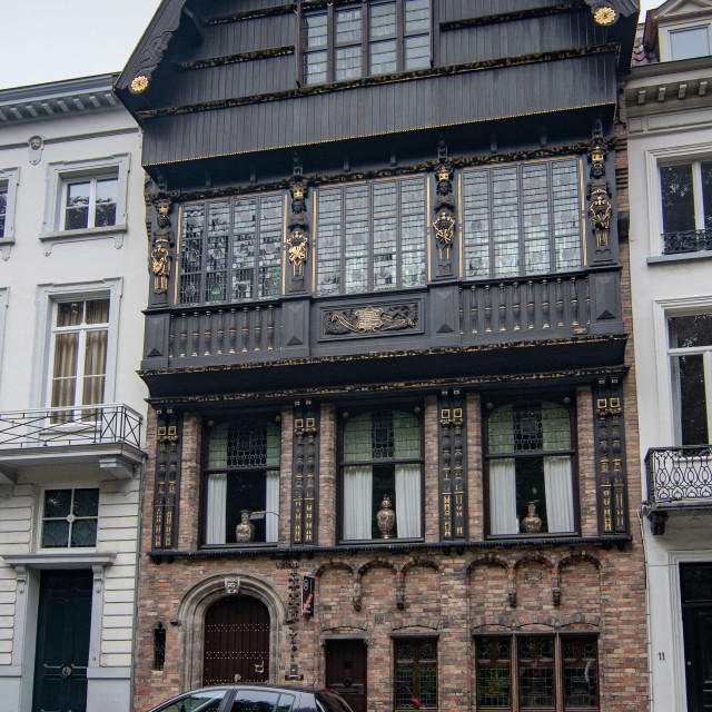 """""""Wooden house architecture, Brugge"""" stock image"""