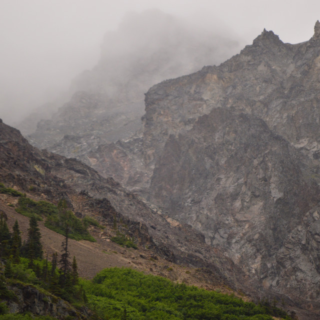 """""""Misty crags"""" stock image"""