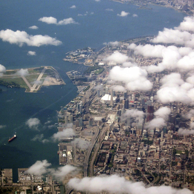 """Toronto downtown aerial"" stock image"