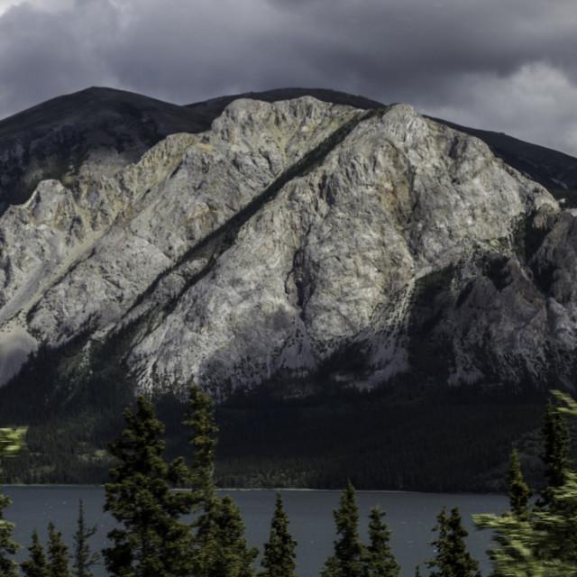 """Peak near Tutshi Lake"" stock image"