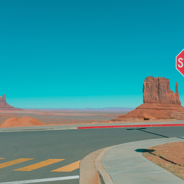 """""""Monument Valley car park 1"""" stock image"""