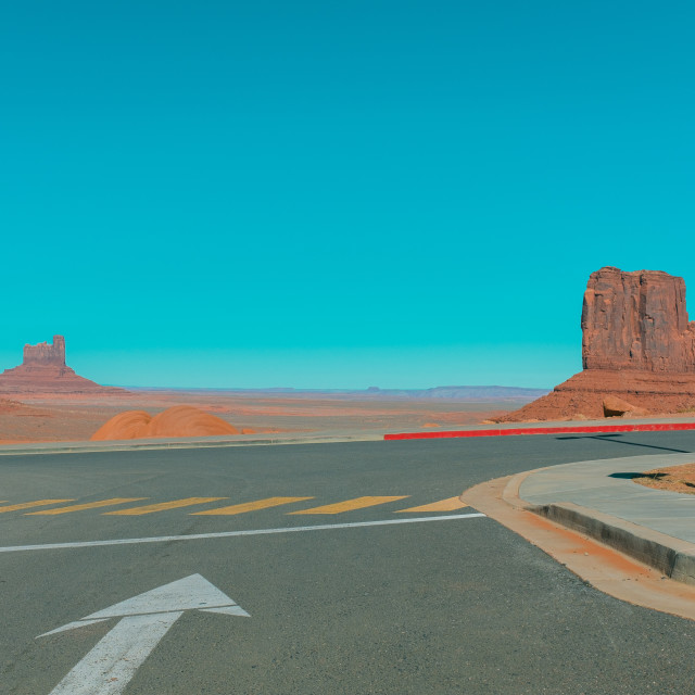 """""""Monument Valley car park 2"""" stock image"""