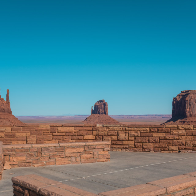 """""""Monument Valley viewing deck"""" stock image"""
