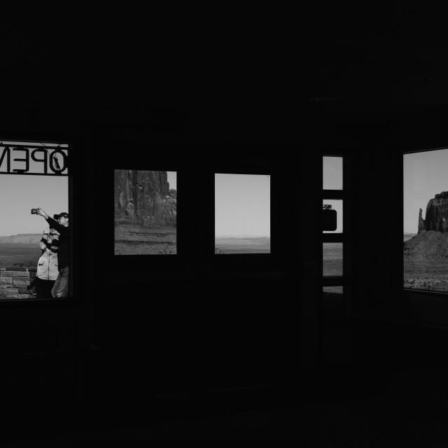 """Monument Valley selfie"" stock image"