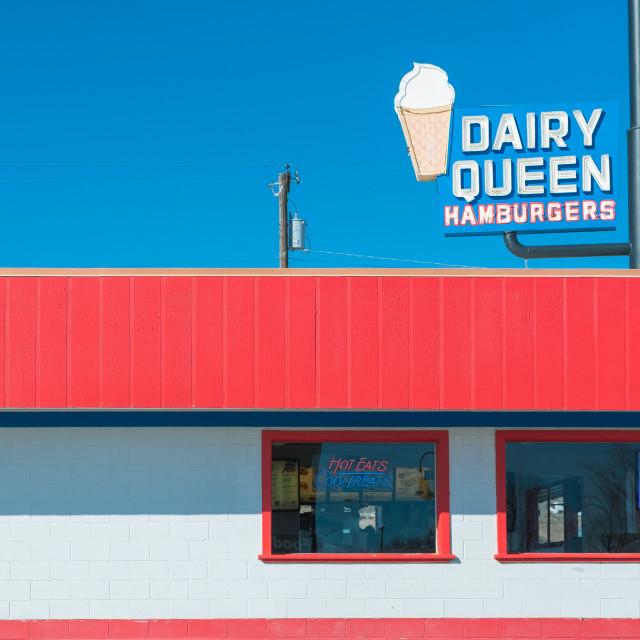 """Retro Dairy Queen"" stock image"