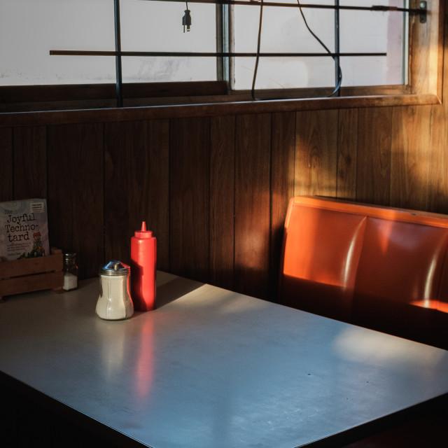 """Joe & Aggie's Cafe"" stock image"
