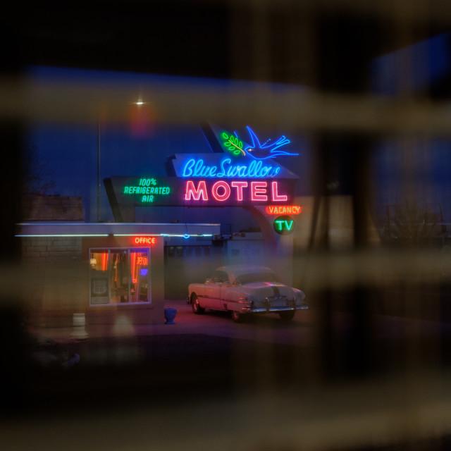 """Blue Swallow Motel"" stock image"