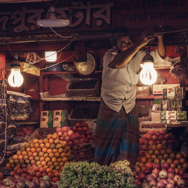 """Store Keeper, Dhaka."" stock image"