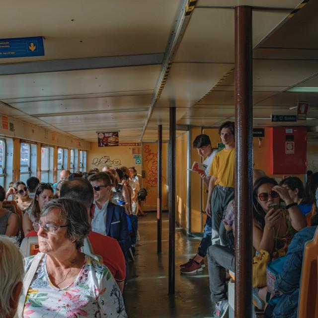 """Ferry to Lisbon"" stock image"