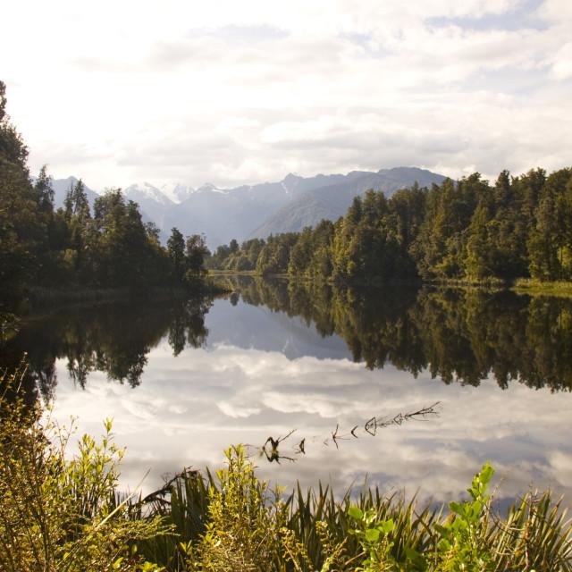 """""""Lake Matheson"""" stock image"""