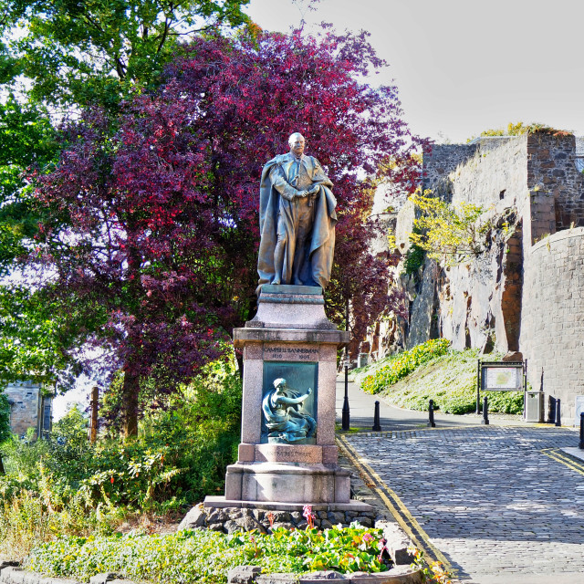 """""""Statue of Henry Campbell-Bannerman"""" stock image"""