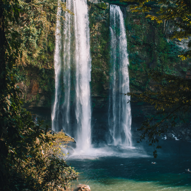 """Misol-Ha Waterfalls in Palenque, Chiapas"" stock image"