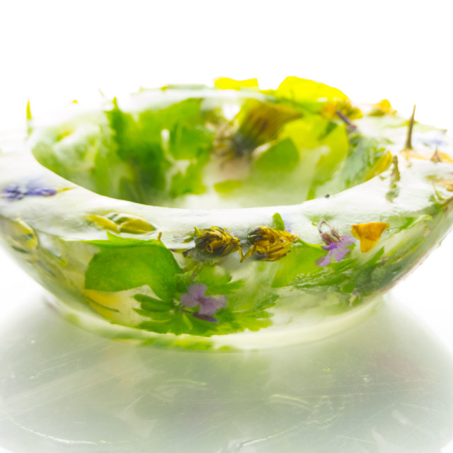 """""""Flowers in Ice Table Decoration"""" stock image"""