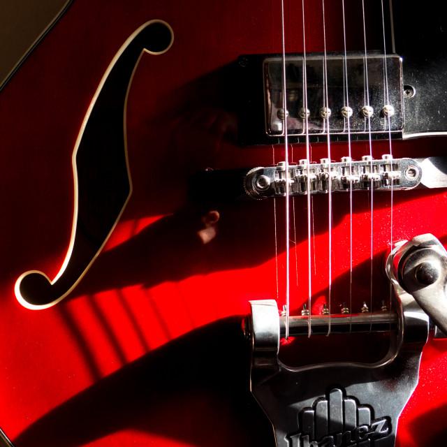 """""""Ibanez semi acoustic guitar"""" stock image"""