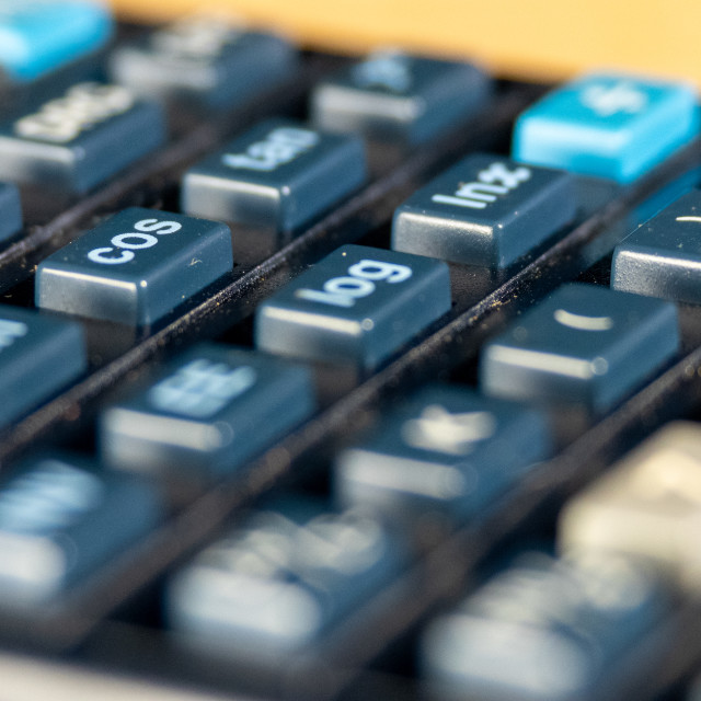"""Close up of a calculator"" stock image"