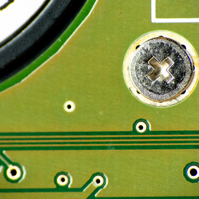 """Close up of a circuit board"" stock image"