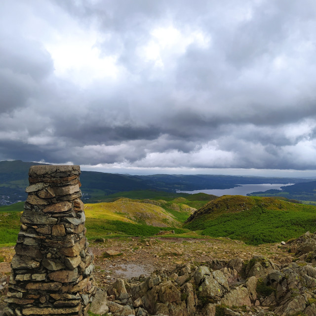 """""""Loughrigg summit"""" stock image"""