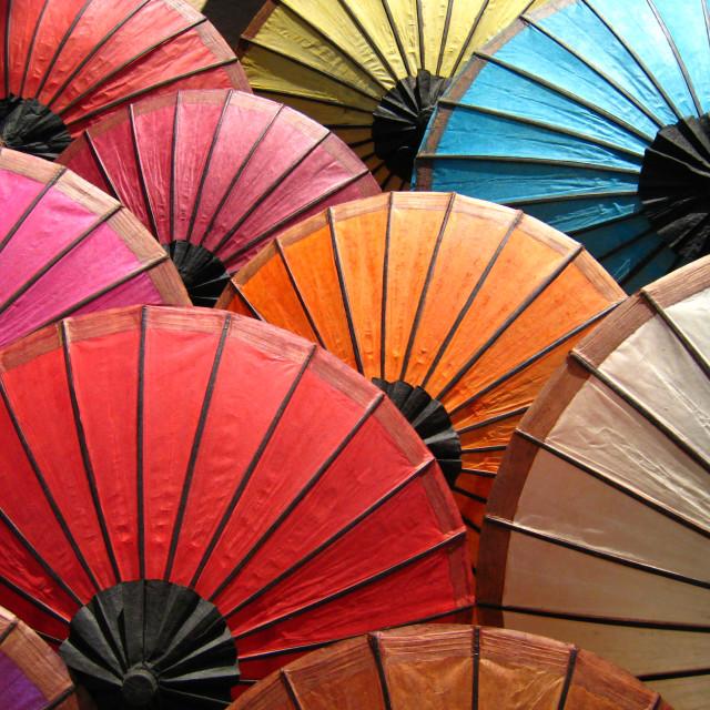 """""""Paper Umbrellas"""" stock image"""