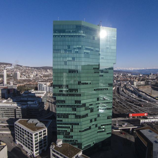 """Prime Tower, Zurich, Switerzland"" stock image"