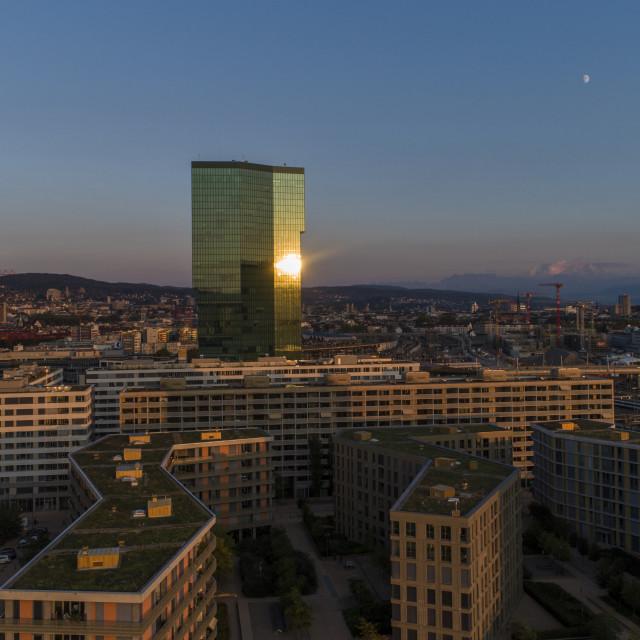 """""""Prime Tower, Zurich, Switzerland"""" stock image"""