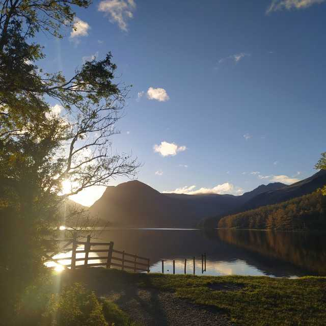"""""""Sunrise at Buttermere"""" stock image"""
