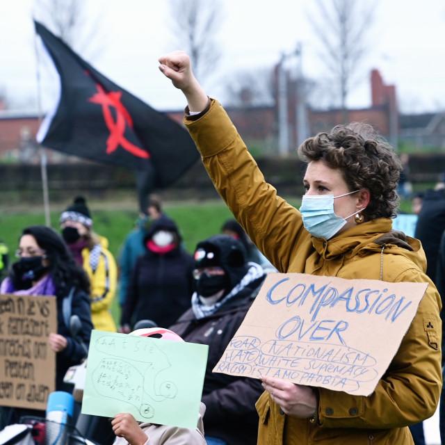 """Anti fascism protest Amsterdam"" stock image"