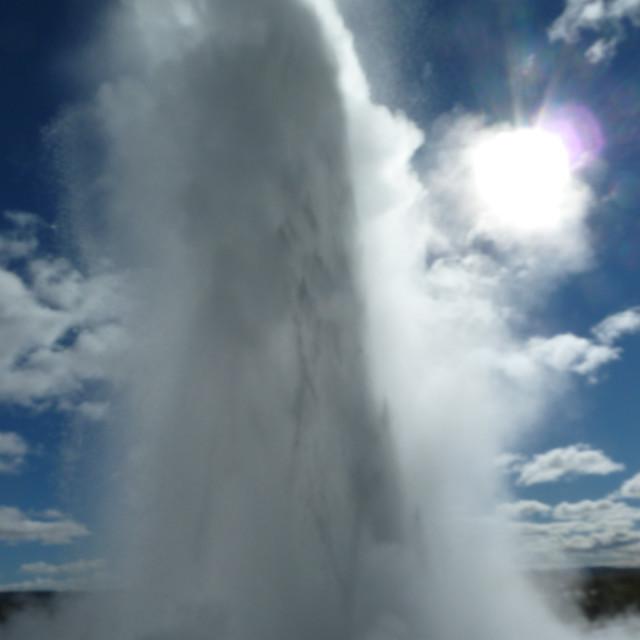"""""""Strokkur geyser"""" stock image"""