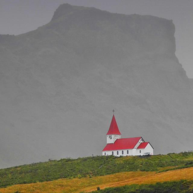 """Church & crag"" stock image"