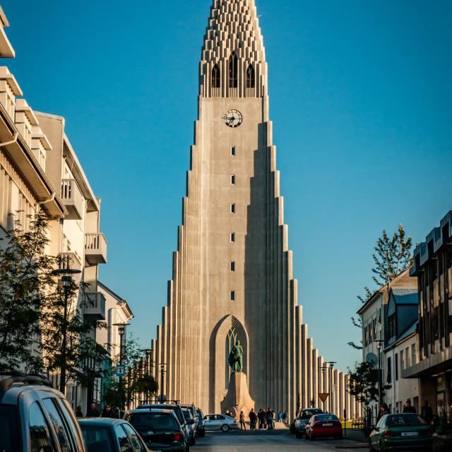 """Hallgrimskirkja (church) in Reykjavik"" stock image"