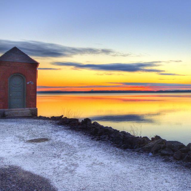 """""""Lakeville sunrise"""" stock image"""