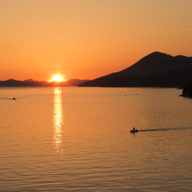 """Adriatic Sunset"" stock image"