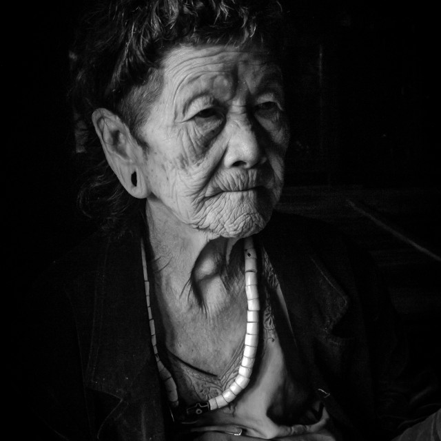 """Old Lady, Arunachal Pradesh"" stock image"