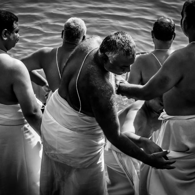 """""""Men Bathing"""" stock image"""
