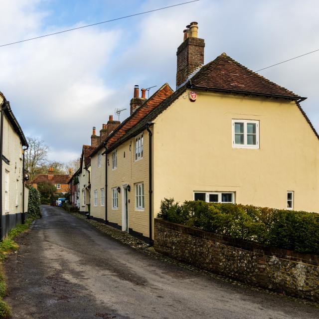 """Church Lane, Hambledon"" stock image"