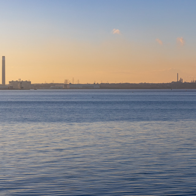 """""""Pastel shades over Southampton Water"""" stock image"""