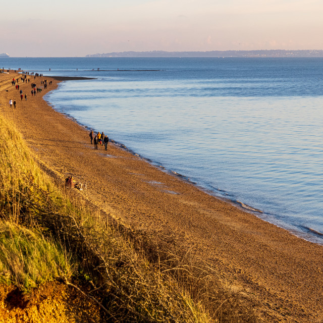 """""""Meon Beach from the clifftop path"""" stock image"""