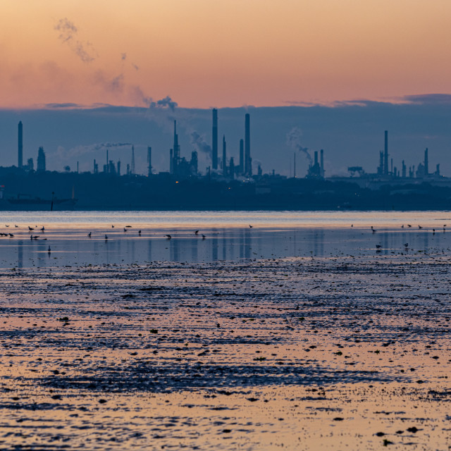 """""""Refinery at sunset"""" stock image"""