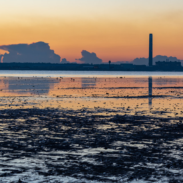 """""""Southampton Water sunset"""" stock image"""