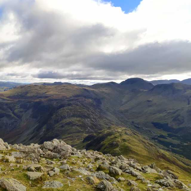 """""""Haystacks from High Crag"""" stock image"""